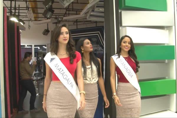 Candidatas a Miss Nicaragua 2016 visitan Viva Nicaragua Canal 13
