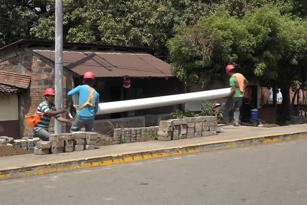 Avanza proyecto de mejoramiento y ampliación del sistema de agua potable en Chichigalpa