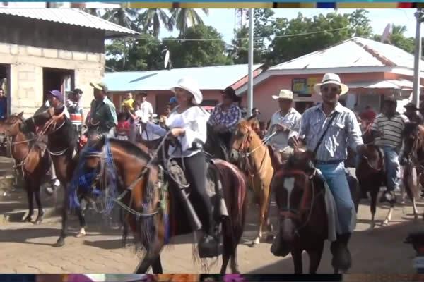 Tonalá municipio de Chinandega inicia sus  fiestas patronales con desfile hipico