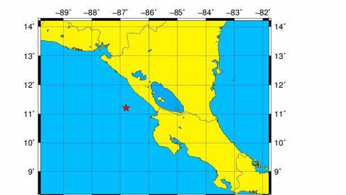 Reportan sismo en el pacífico de Nicaragua