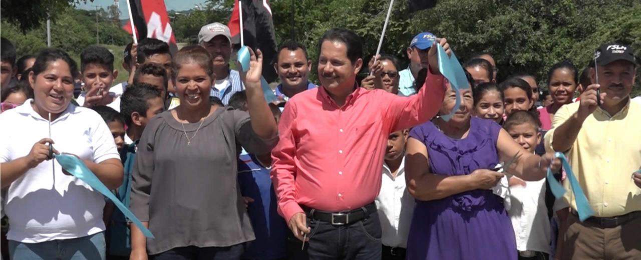 Inauguran más de tres kilómetros de carretera adoquinada en Malpaisillo
