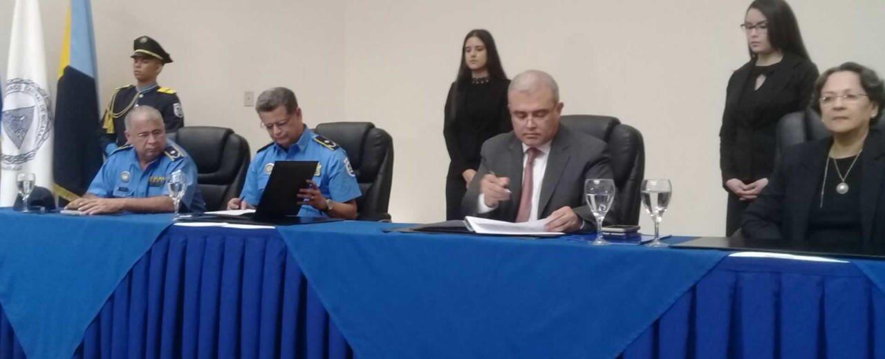 Banco Central de Nicaragua conmemora 38 aniversario de la Policía  Nacional