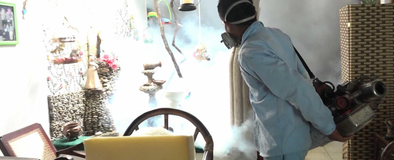Familias del Barrio Carlos Fonseca, conscientes de la importancia de la fumigación