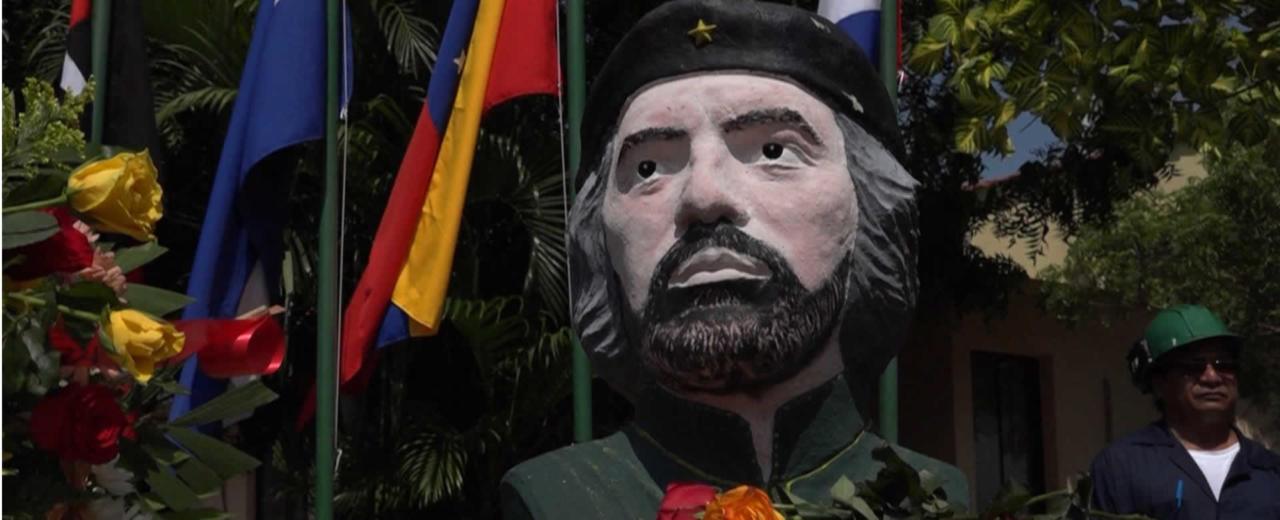 """Trabajadores de la Planta """"Che"""" Guevara en Nagarote rinden homenaje al revolucionario"""