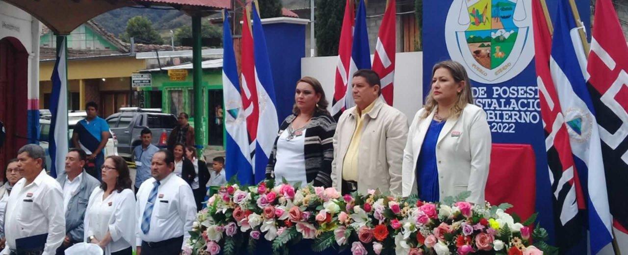 Autoridades municipales de Jinotega llevan a cabo toma de posesión