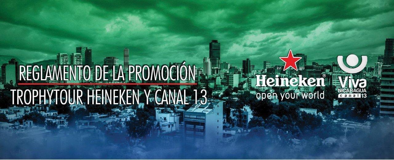Heineken y Viva Nicaragua, Canal 13 te llevan a México al TROPHYTOUR