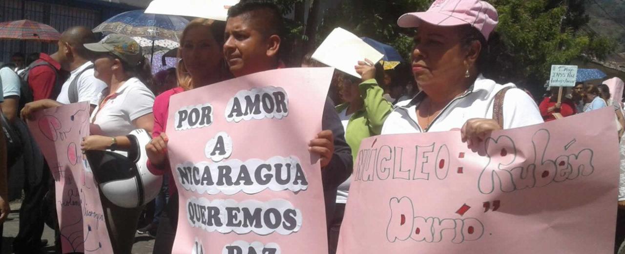 Caminata en respaldo a las Reformas del INSS en Jinotega