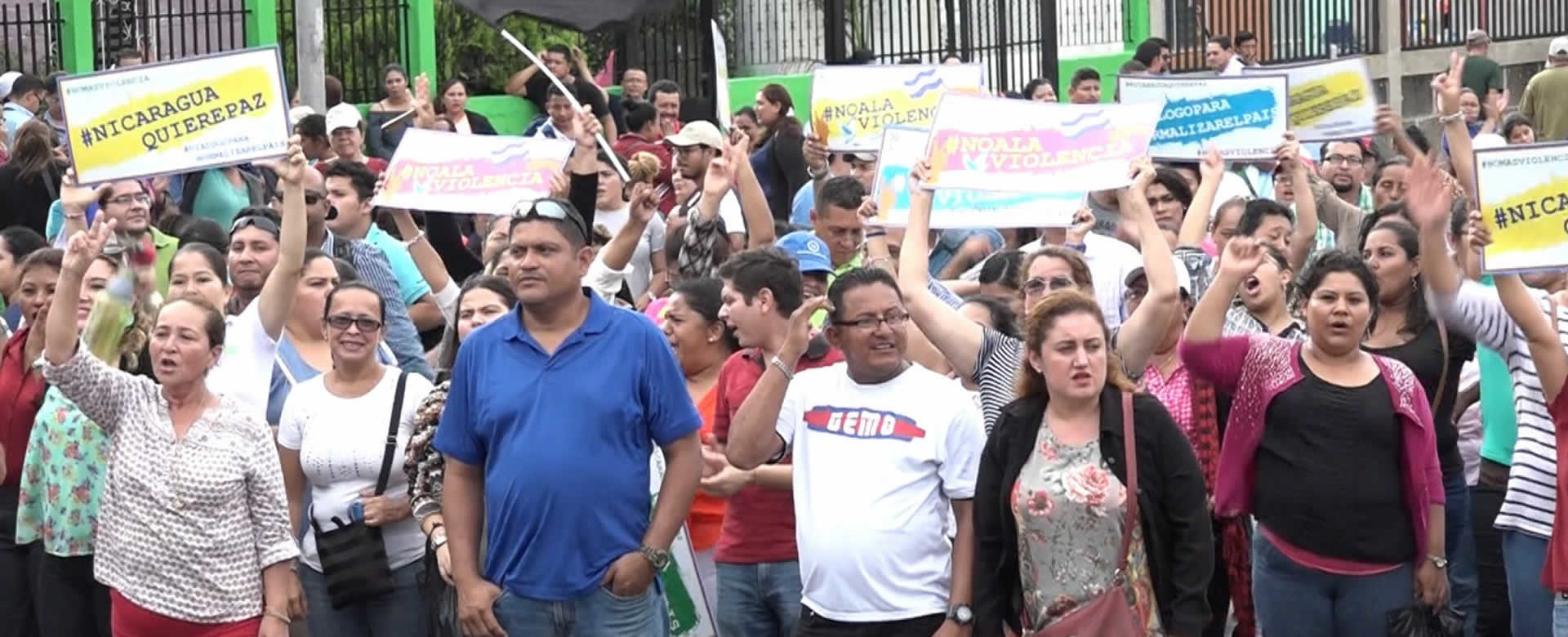 Familias nicaragüenses celebran liberación de Masaya