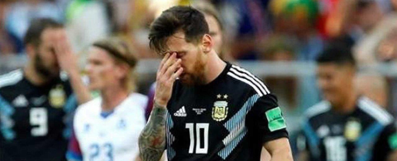 """Messi inicia el Mundial de Rusia con el """"pie izquierdo"""""""