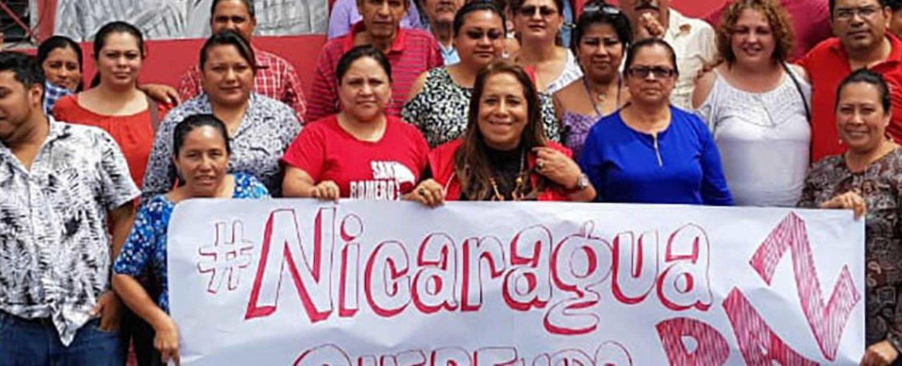 Pueblo hermano de El Salvador se solidariza con Nicaragua en la búsqueda de paz