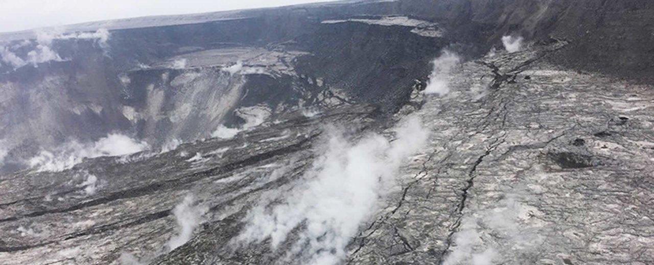 Dale un vistazo al cráter del Volcán Kilauea tras su violenta erupción