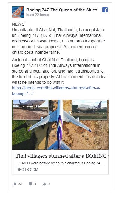 Aldeanos de chai nat, en tailandia se sorprenden por encontrar un avión cerca de sus casas