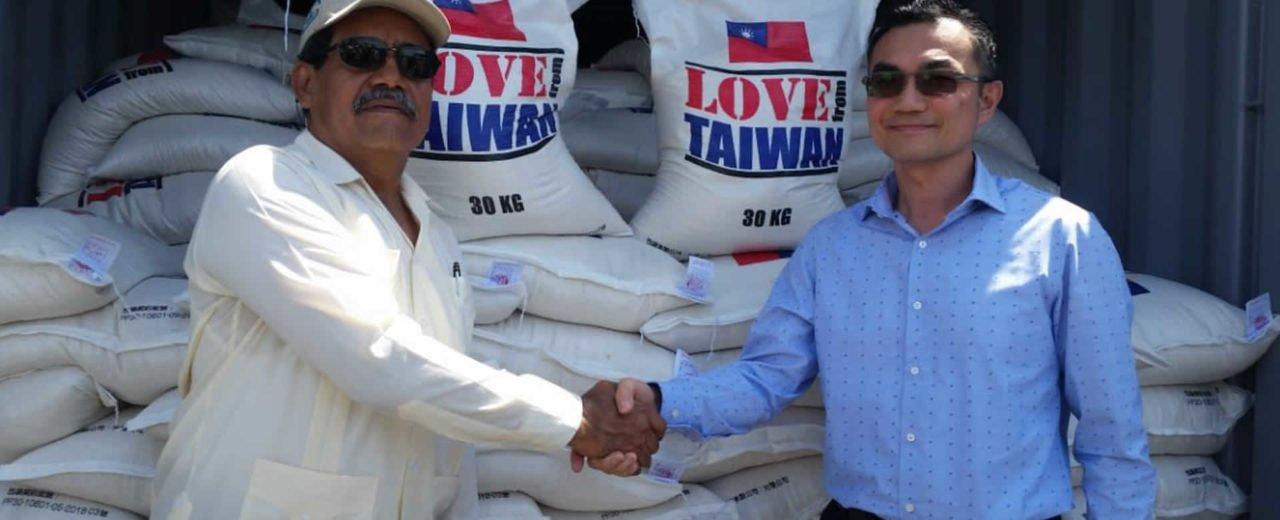 La República de China (Taiwán), dona al país 440 toneladas de arroz