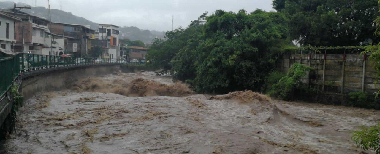 Lluvias continúan aumentando el caudal del Río Grande de Matagalpa