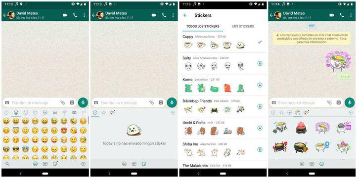 WhatsApp está estrenando stickers y muchos se están volviendo locos por ellos