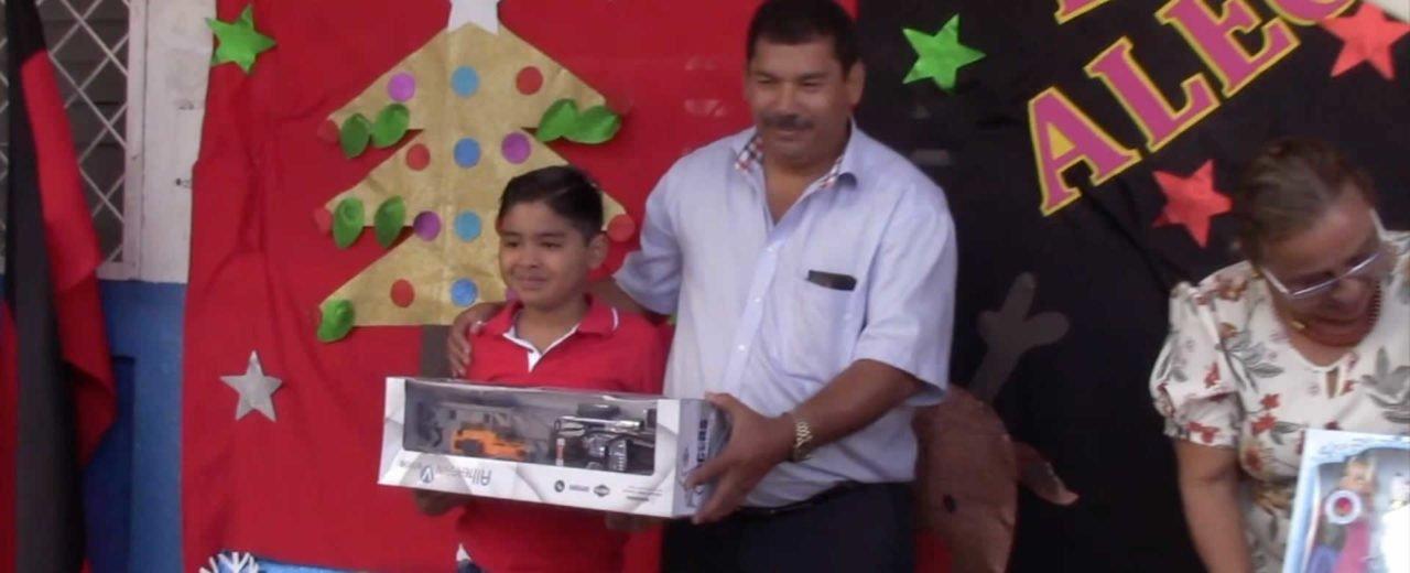 Feliz se encuentra la niñez de Boaco con la entrega de juguetes que realizó el Gobierno Sandinista