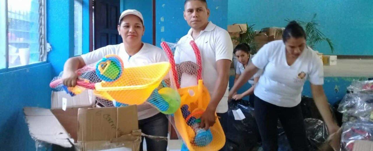 Muy felices se encuentran los niños y niñas de Estelí con la entrega de juguetes