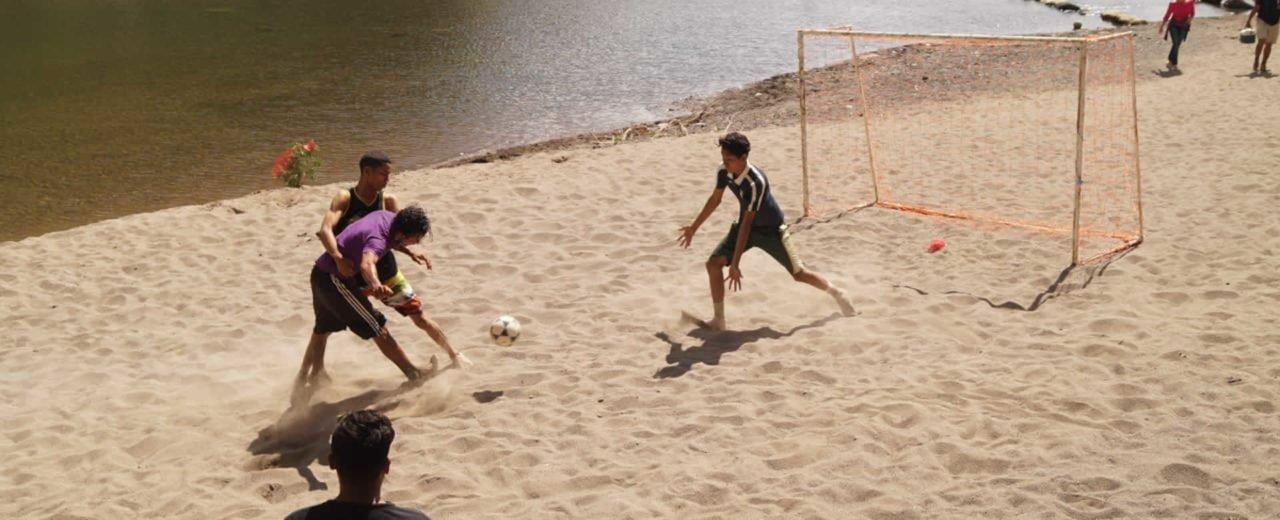 Se realiza el Primer Torneo de Fútbol Playa Navideño en el Monumento Cañón de Somoto