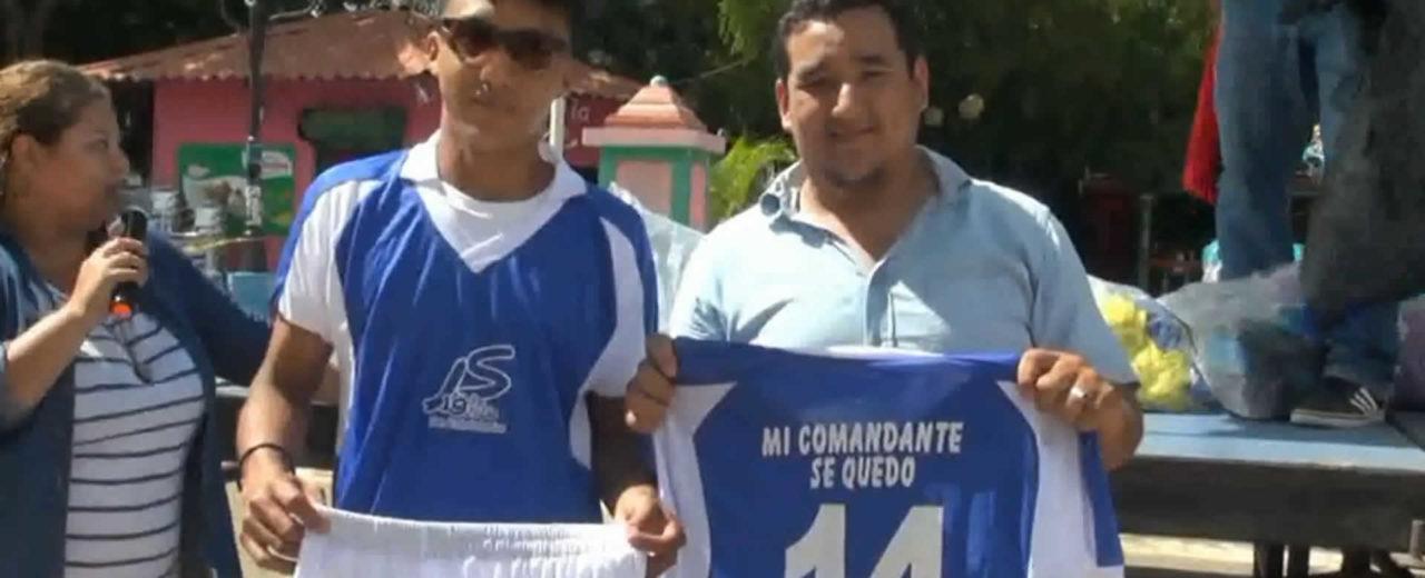 """Autoridades de San Rafael del Sur inauguran la liga de futbol """"Copa Alexis Arguello"""""""