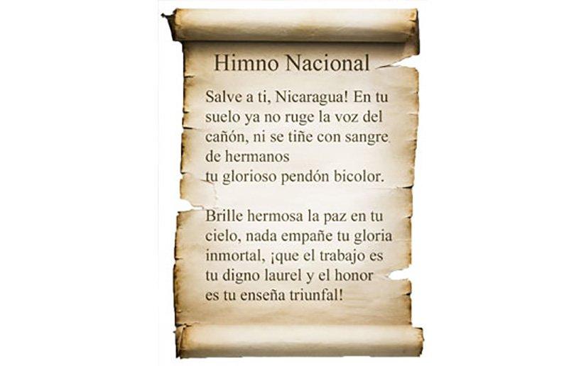 Himno Nacional de Nicaragua cumple un centenario de haber sido cantado