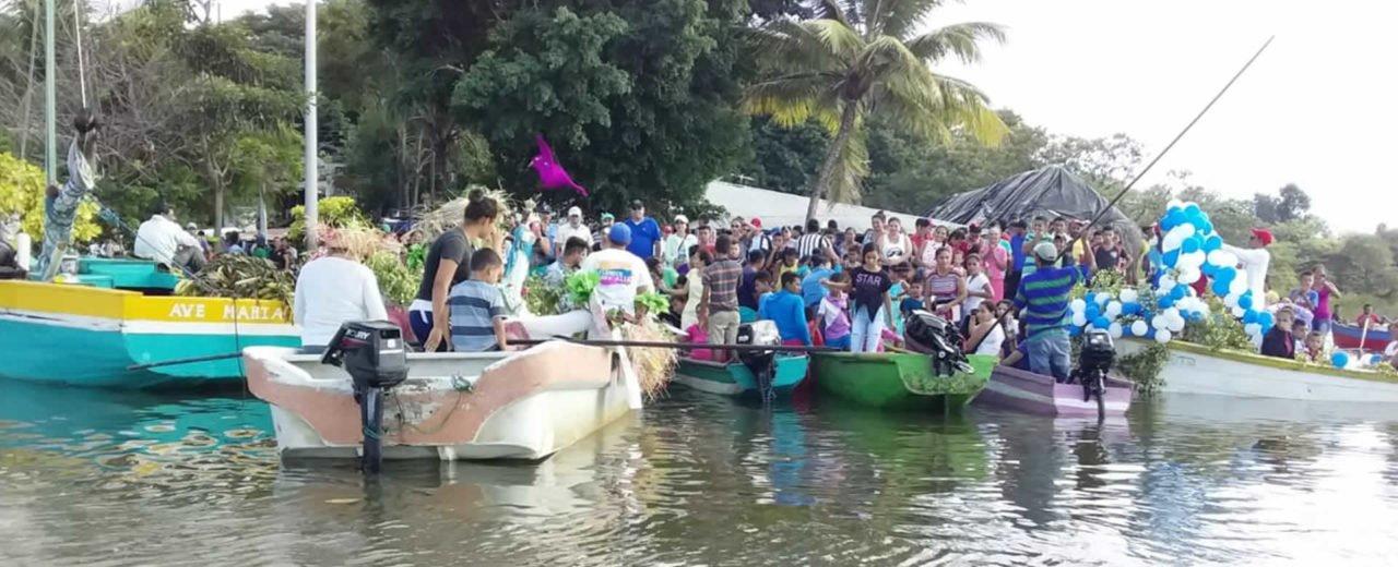 Juigalpa realizó su primera Purísima Acuática en el Puerto Díaz de Juigalpa, Chontales