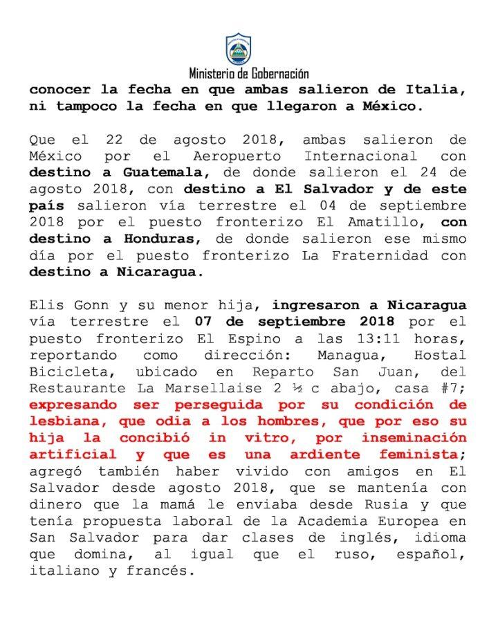 Migración y Extranjería brinda información de la mujer que atacó a sacerdote en Catedral de Managua