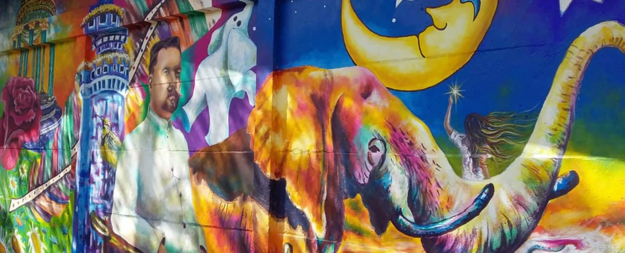 Centro escolar de la comunidad San Isidro de Bolas inauguró un mural dedicado a nuestro poeta universal
