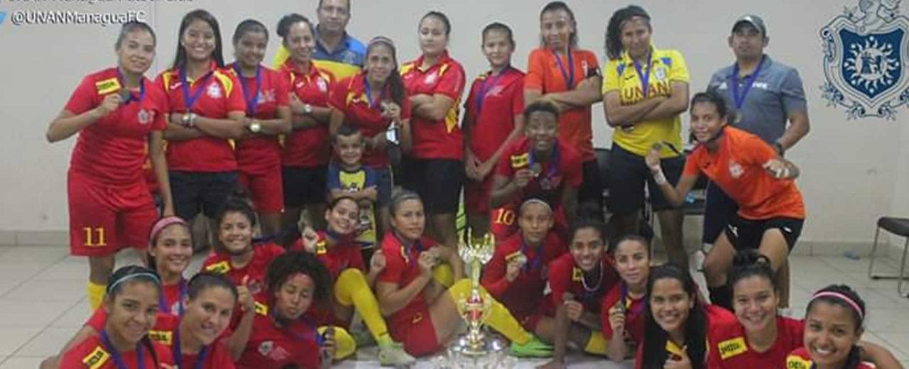UNAN Managua se corona invicta en el campeonato de futbol femenino