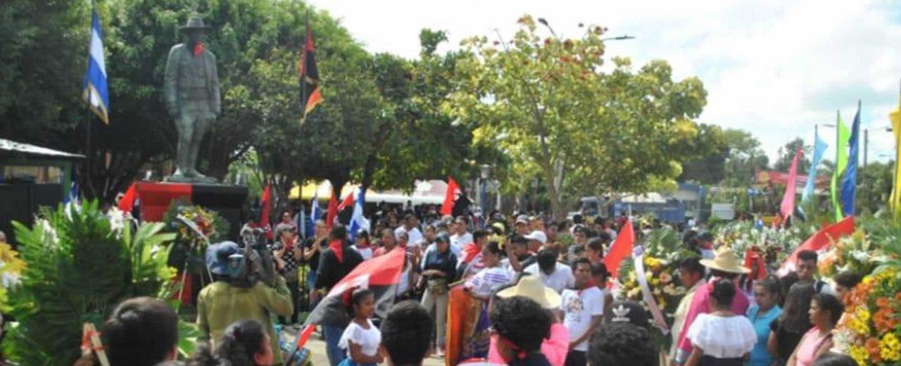 Niquinohomeños comprometidos con el legado de Sandino le rinden homenaje