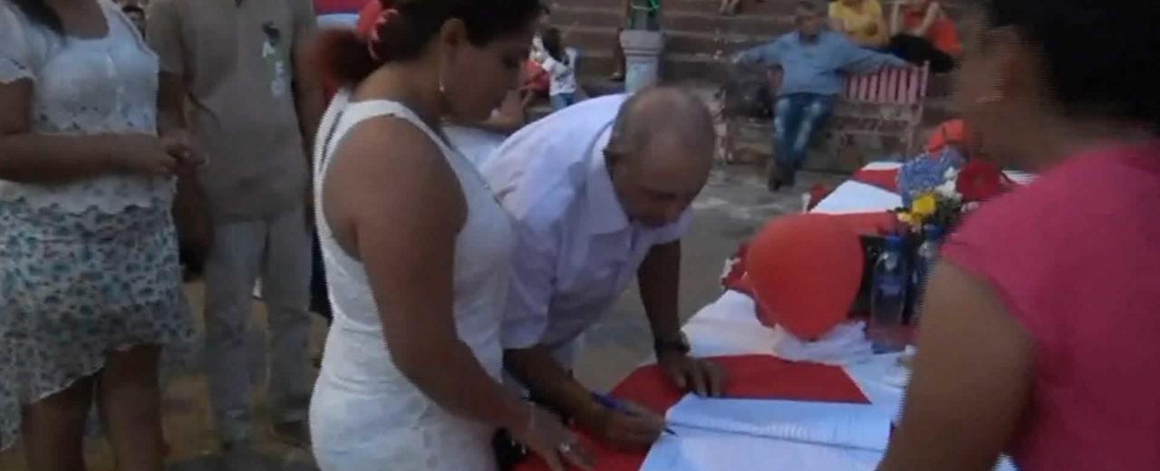 Parejas de San Rafael del Sur se unen en matrimonio gracias a la alcaldía municipal