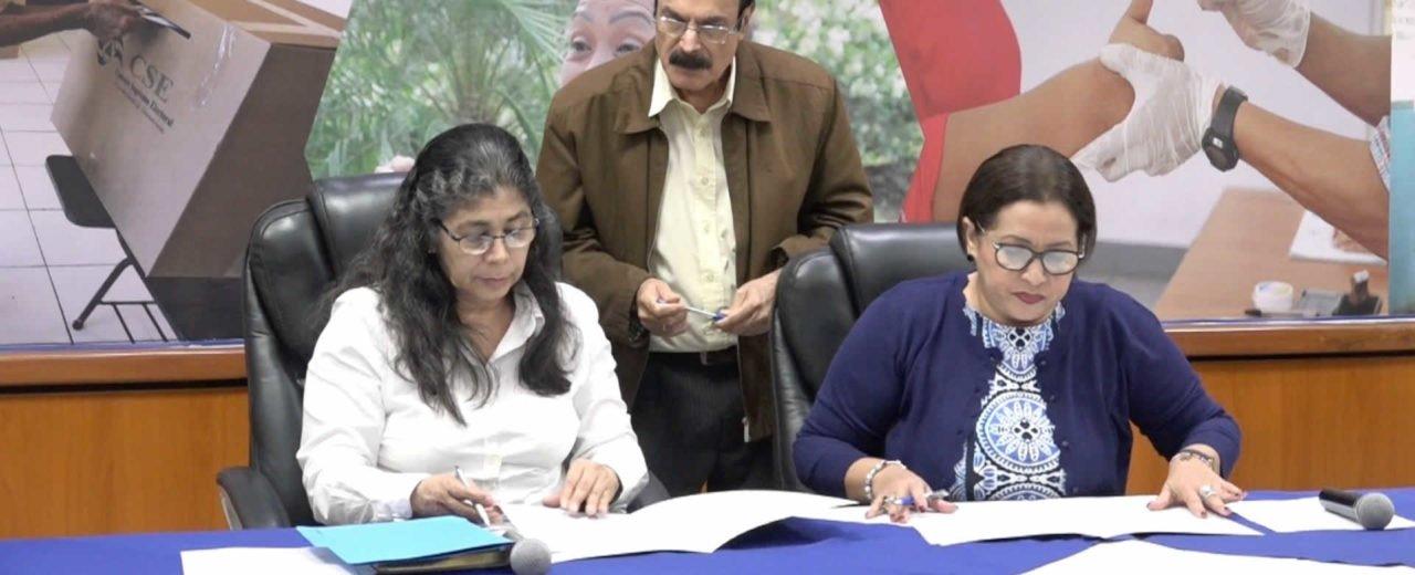 Consejo Supremo Electoral y Derechos Humanos firman convenio para comicios del Caribe