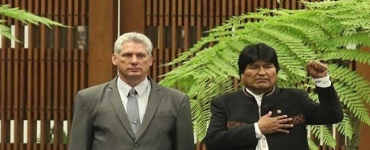 Presidentes Diaz-Canel y Evo Morales denuncian injerencia contra el pueblo venezolano