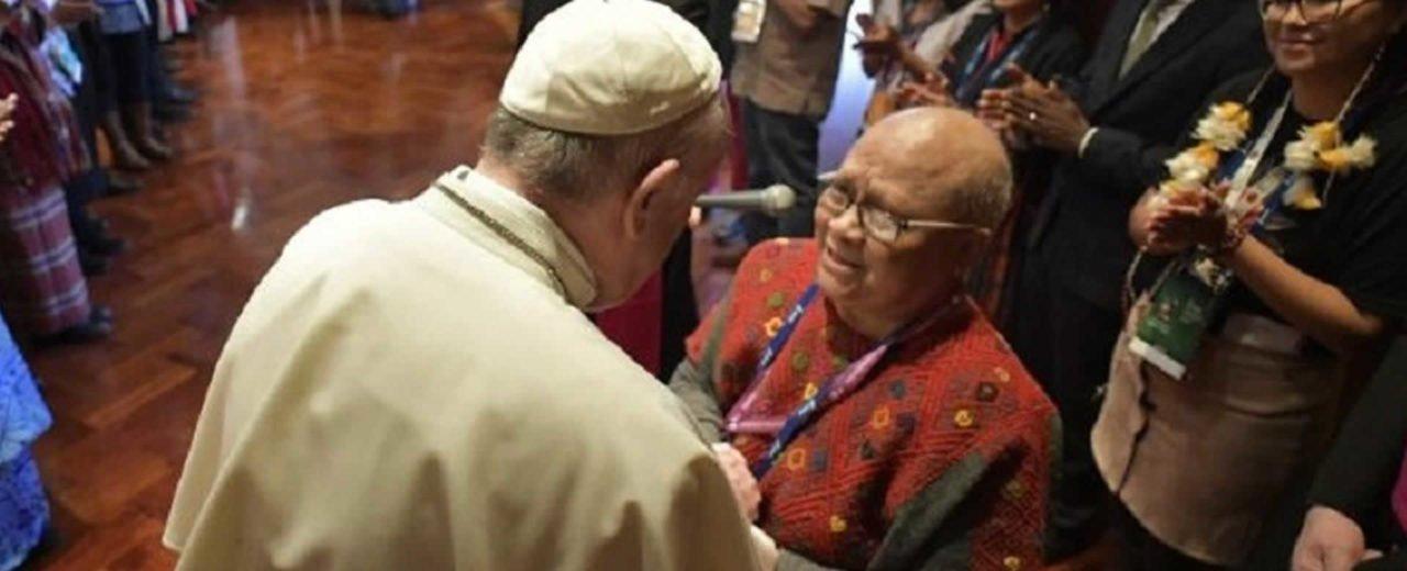 Representantes de pueblos indígenas del mundo sostienen encuentro con el Papa Francisco