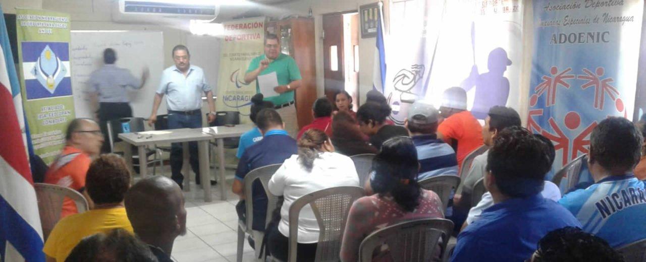 Comité Paralimpico Nicaragüense presenta a su nueva junta directiva