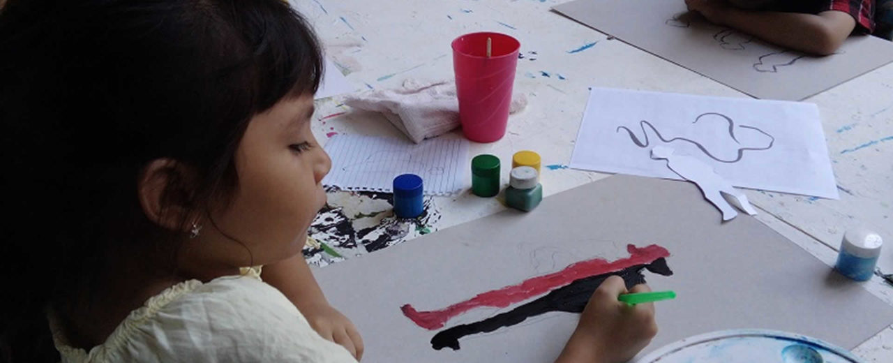 Pintando a Sandino para fomentar el amor a la patria
