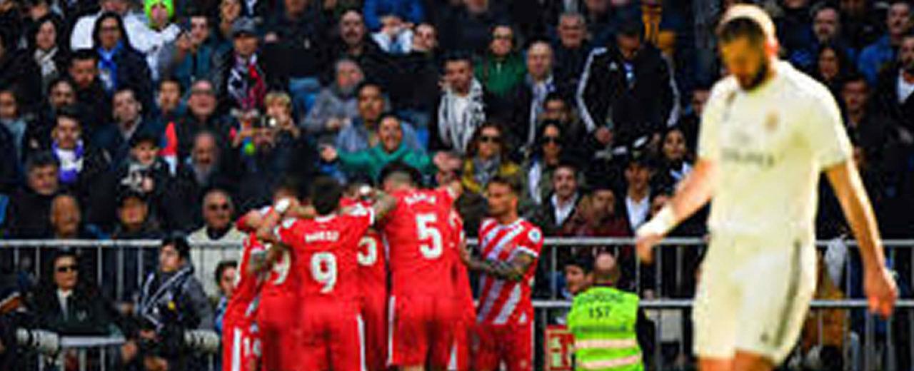 Real Madrid pierde en el Bernabéu ante el Girona