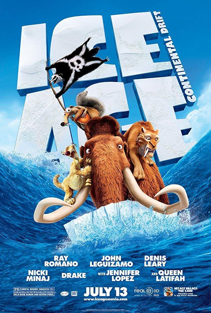 Cine Animado - Ice Age: Continental Drift