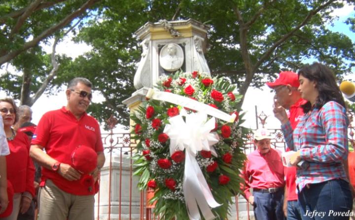 Rinden homenaje al General Zelaya, a 126 años de la Revolución Liberal