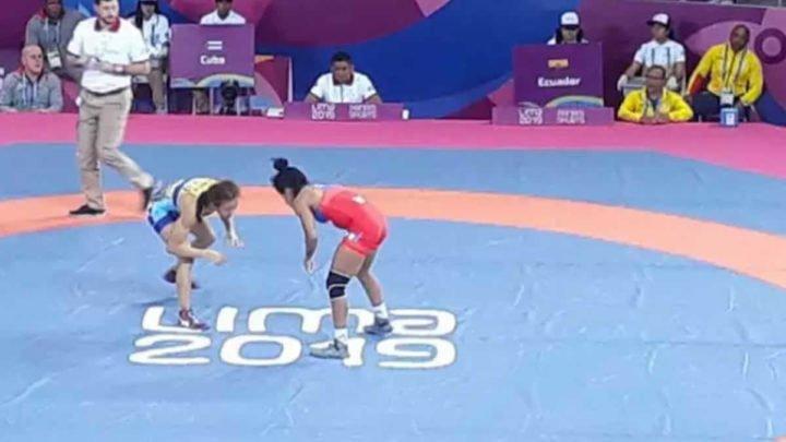 Luchadora jinotepina medalla bronce