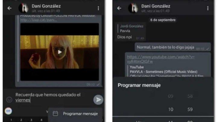 nueva actualización telegram programar