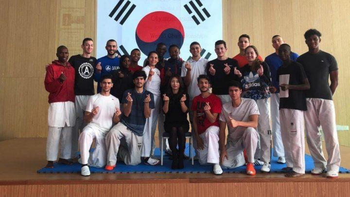 Elián Ortega mejora sus técnicas de Taekwondo en Corea del Sur