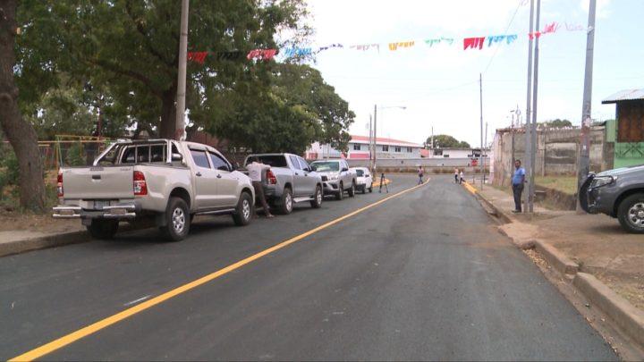 Barrio 14 de septiembre inaugura proyecto de mejoramiento vial