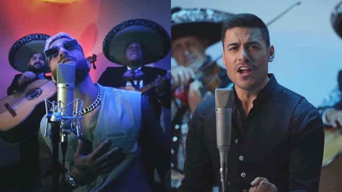 Maluma acompañado de mariachi y en colaboración con Carlos Rivera.