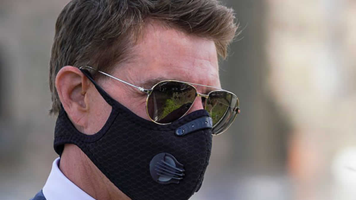 Tom Cruise usa mascarilla en el rodaje de Misión Imposible 7