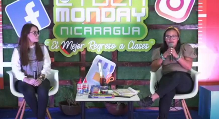 Frania Peralta y Guadalupe Padilla en conferencia de prensa.